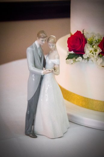 Classy bride and groom cake topper