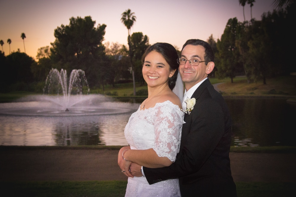 Wedding Portrait at Sunset at Mother-Son dance at Canyon Crest Country Club