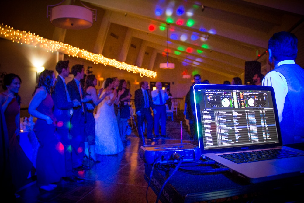 View of Wedding Reception from Sound Garden Production's music equipment